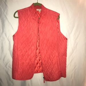 Talbots Coral vest